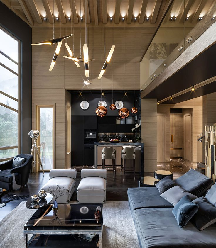 Modern style chalet on Behance