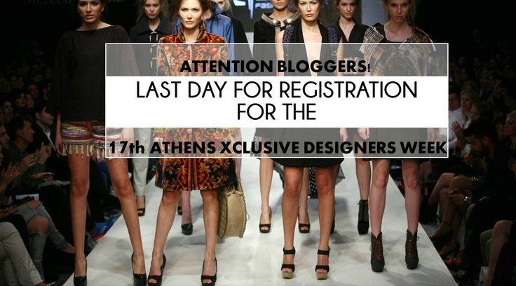 Tik, tak, the clock is ticking!!! Final deadline for registration in the 17th AXDW. Σήμερα το βράδυ στις 00.00, η φόρμα για registration στο site μας για bloggers accreditation θα κλείσει. Μπείτε τώρα στο http://axdw.gr/contact και στείλτε μας τα αιτήματα σας έως τις 00.00 για να αποκτήσετε το πάσο σας και να παρακολουθήσετε από κοντά την #17thAXDW :)