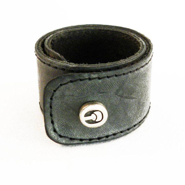 ClickClacks armband grijs leer