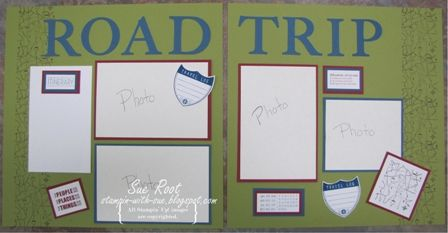 Travel Log 2 page 12 x 12 Scrapbook Layout
