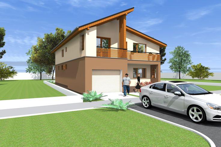 Casa NC10 Modificata. Proiect casa cu parter si etaj. 245 metri patrati.