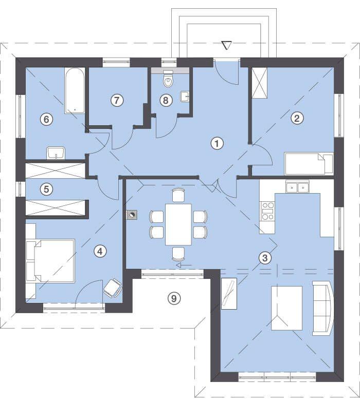 24 besten grundriss bungalow bilder auf pinterest. Black Bedroom Furniture Sets. Home Design Ideas