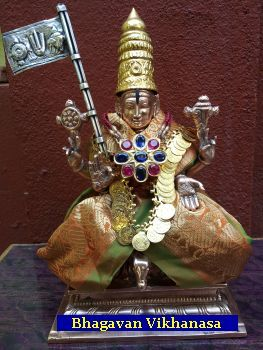 An article on the Sri Vaikhanasa Agama as it is practised in the Srivari Temple, Tirumala, Andra Pradesh, South India. Written by Sri Ramakrishna Dx Archakam. Read here: http://www.srivenkatesa.org/index.php/srivaikhanasam/687#.ULheOrNP9cc.facebook