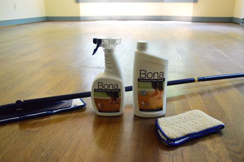 How to clean & re polish existing wood floors.   (It's really helpful that these bloggers bought a house two months before we did)