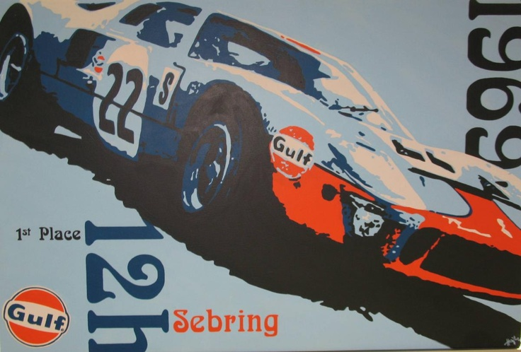 Vintage Car Racing Posters