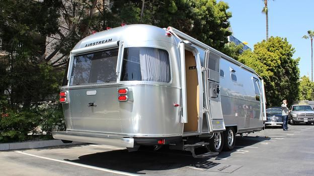 The new Airstream Land Yacht -- classic Americana with updated amenities.