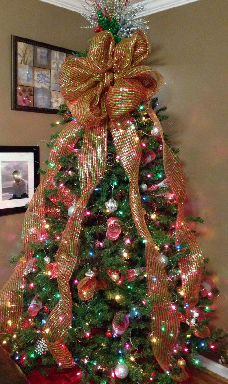 Deco mesh Christmas tree Mesh christmas tree, Christmas