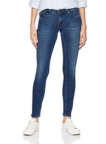Tommy Jeans Femme Low Rise Scarlett Jeans skinny Bleu (Fraser Dark Blue Str  911) 7682f05ed6f2