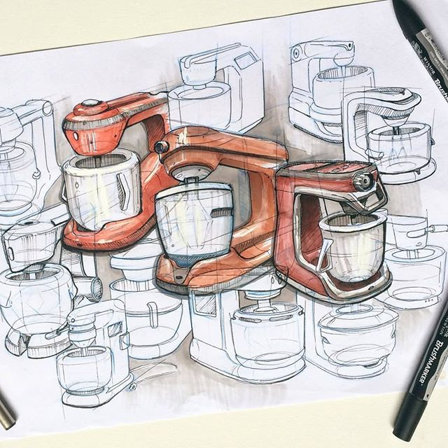 Скетч от @russell_davidson #industrialdesign #idustrial #ID #sketching #idsketching #product #productdesign #concept #sketch #designsketching #design #drawing #idea #скетчинг #скетч #скетчмаркерами #markerrendering
