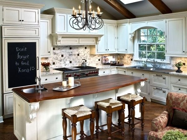 Awesome Stunning Furniture Italian Country Kitchen Decor With White L ..