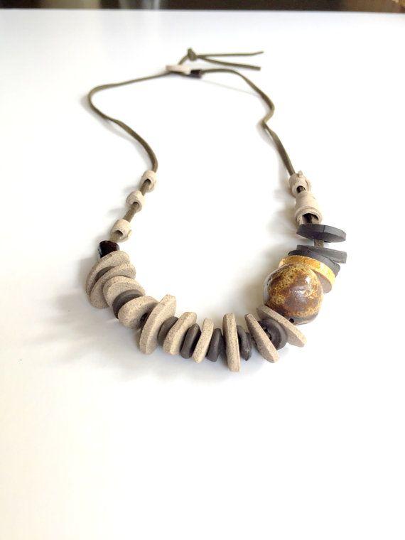 Dichiarazione collana-gioielli fatti a mano in ceramica /