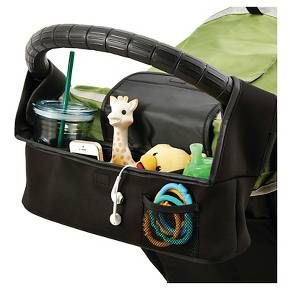 The Universal Parent Console offers convenient storage for parents on the go! The console attaches to your stroller's handlebar and features an insulated cup holder, a large covered storage pouch with interior pockets and a secondary open pouch that doubles as a second cup holder.<br><br>•Includes insulated cup holder, large covered storage pouch, and secondary pouch<br>•Easily attaches to stroller handlebar<br>•Secondary pouch can double...