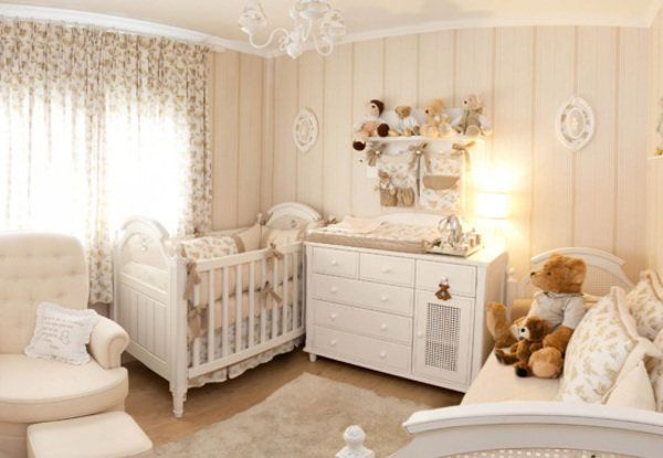 nursery in combination of brown and beige