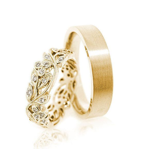 Hey, I found this really awesome Etsy listing at https://www.etsy.com/listing/281733306/14k-gold-wedding-bands-gold-wedding