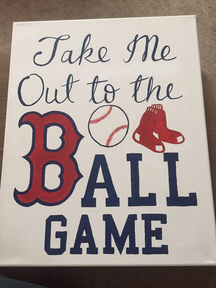 Boston Red Sox canvas.