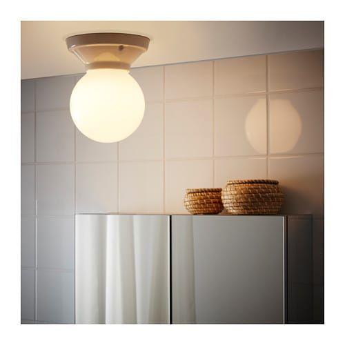VITEMÖLLA Ceiling/wall lamp, ceramic stoneware porcelain, glass