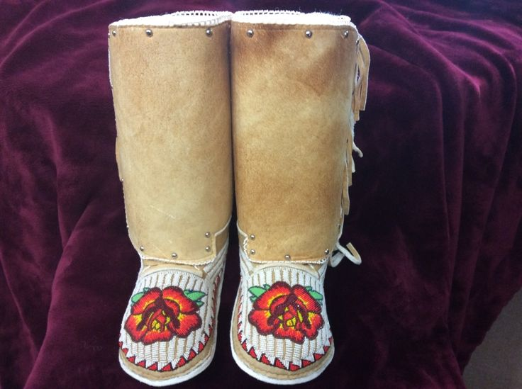 Adult Beaded Moccasins 1A