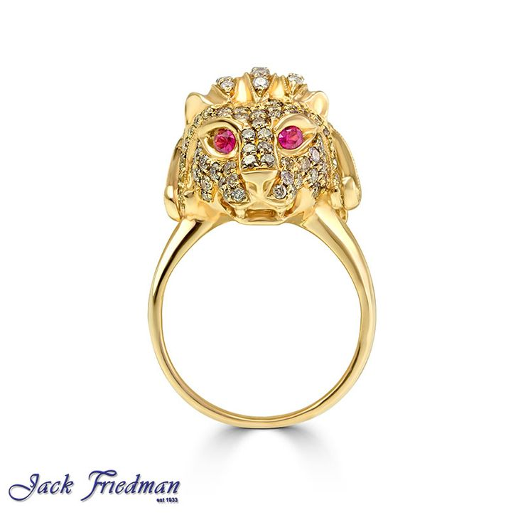 Lion with diamonds and ruby eyes jackfriedman.co.za