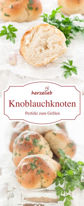 Brot Rezepte: Knoblauchbrötchen zum Grillen, Dippen oder einfach so Knabbern. Einfach zu backen.