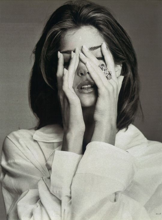 Stephanie Seymour photographed by Brigitte Lacombe for Elle Germany September 1991