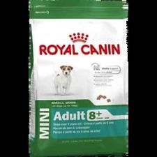 ROYAL CANIN MINI ADULT 8+  KG 2   Alimento completo per cani maturi di piccola taglia (tra 1 e 10 kg) - Oltre 8 anni di età.  16,50 €  https://www.pets-house.it/per-cani-anziani/1891-royal-canin-mini-adult-8-kg-2-3182550831383.html