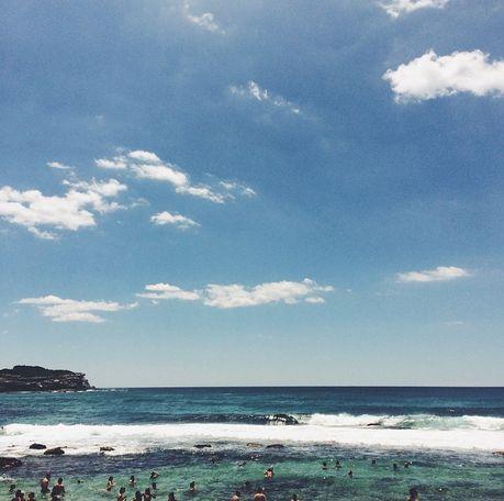 i love the beach - bronte beach - blueblueblue