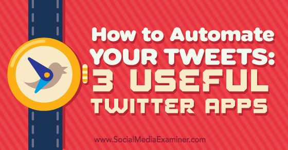 Does tweeting take up a lot of your time? In this article, you'll discover how to automatically schedule your tweets at optimal times.
