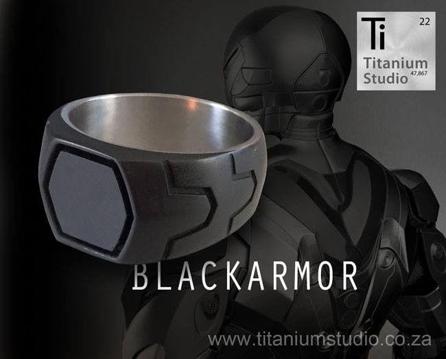 Black wedding ring. Specially cast in resin.