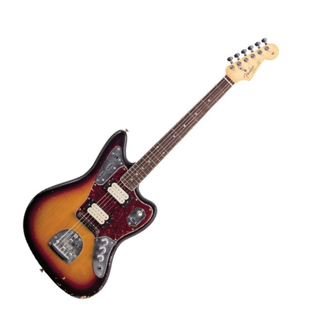 kurt cobain jaguar | Fender Kurt Cobain Jaguar RW 3-Color Sunburst