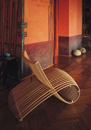 Bamboo swirls, the new love seat.