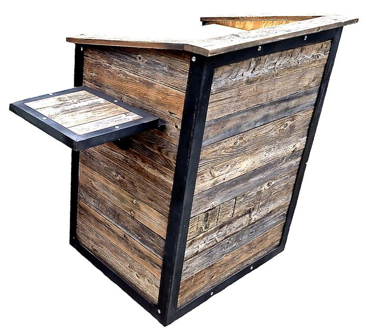 Reclaimed Wood And Steel Hostess Stand Podium Focusof