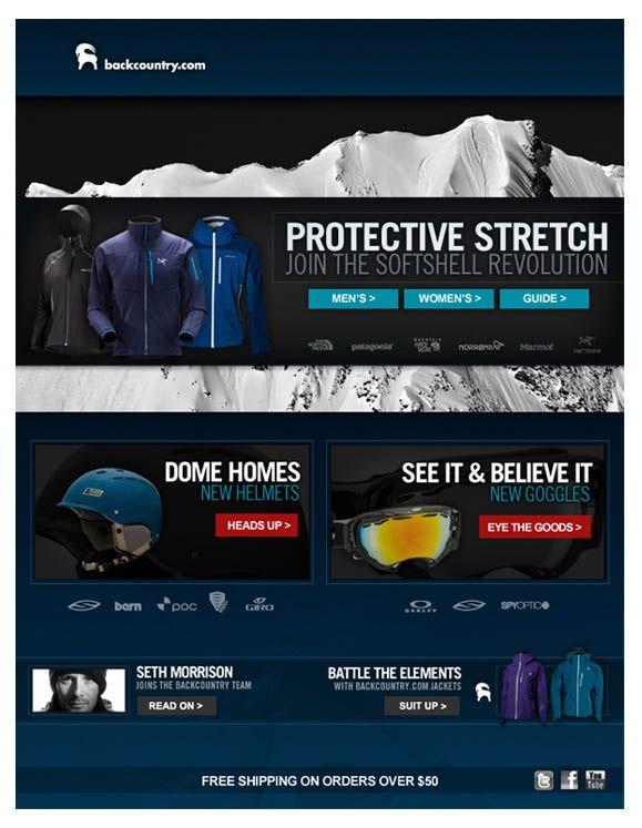 Backcountry.com email design