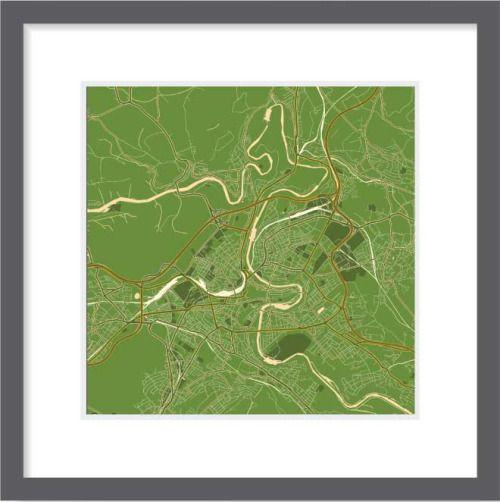 Map of Bern. Modern Artwork. The best choice for your interior design. Print, Canvas, Frames, Size 30x30, 60x60, 90x90 cm, B2B, B2C