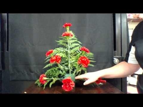 TSFA Floral certification triangle arrangement tutorial - YouTube
