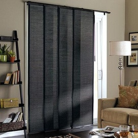 Blind Ideas For Sliding Doors windows best blinds for sliding windows ideas window blinds sliding patio doors Whole Homemd Beckett Room Darkening Panel Tracks From 13999