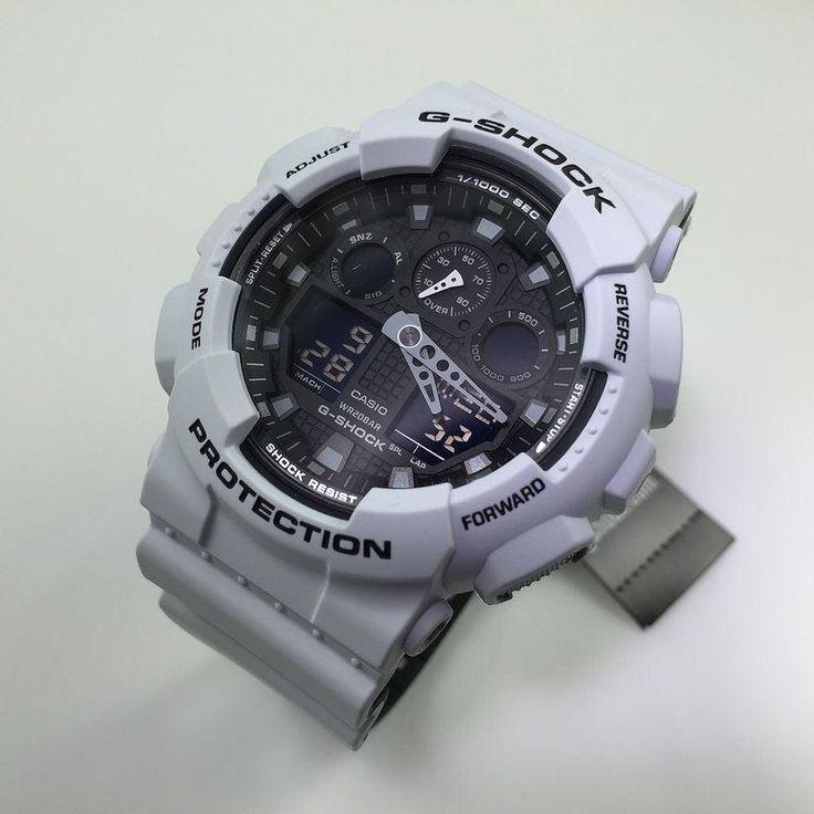 Casio G-Shock Light Gray Digital Analog Watch GA100L-7A
