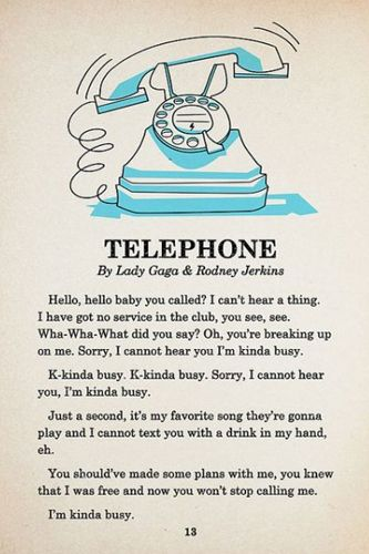 I though turning Lady Gag's 'telephone' into a children's book would be crazy, but the illustrations are so cute!
