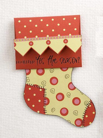 Personalized christmas gift card holders