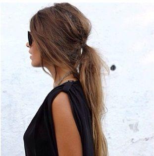 summer hair - messy ponytail <3