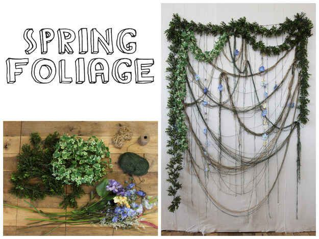 What's a spring party without flowers?   32 Unbelievably Cheap And Beautiful DIY Photo Backdrops