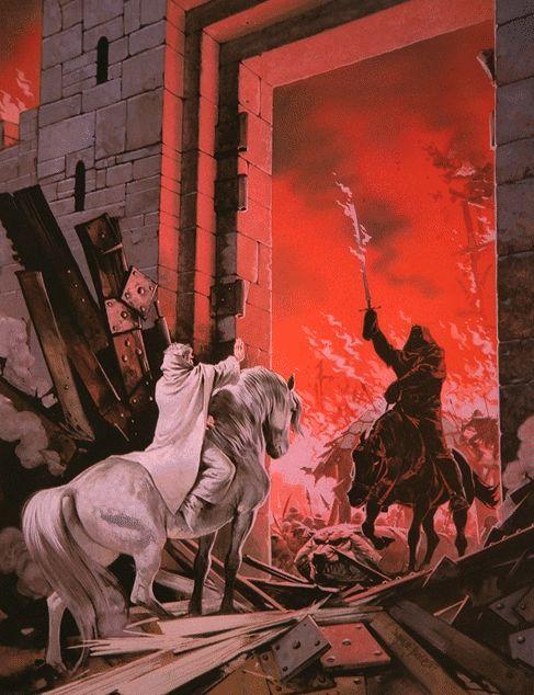 Gandalf facing Witch-King ~ Angus McBride.