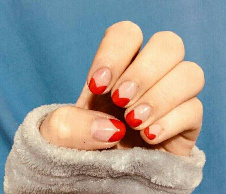 #nails #nail #naiart #naildesign #cute #pretty #manicure #korean #style #koreannails #korea #love #red