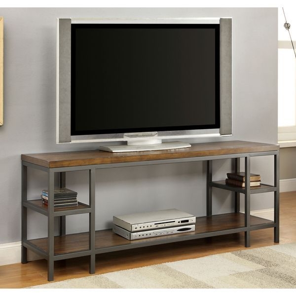 furniture of america payton industrial tiered 60 inch tv stand shopping the. Black Bedroom Furniture Sets. Home Design Ideas