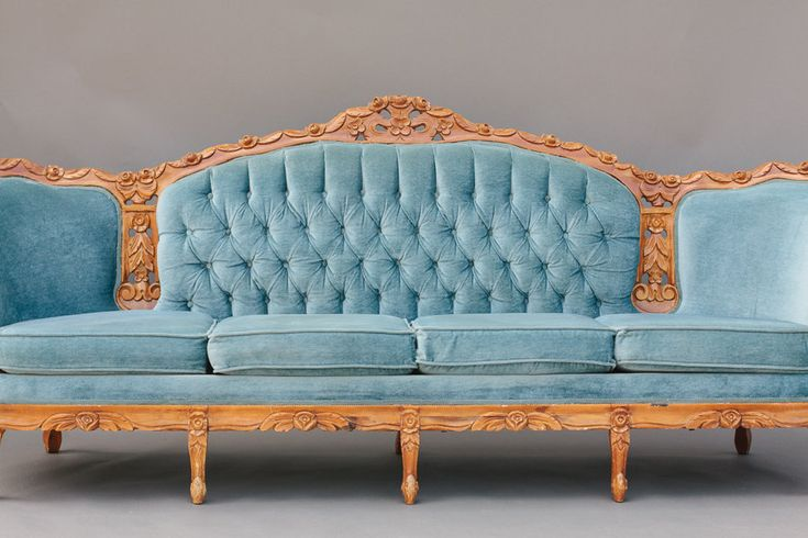 Blue Victorian SofaParties Rental, Blue Sofas, Blue Victorian, Victorian Sofas, Rental Sofas, Dogwood Parties