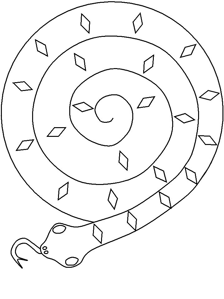 Paper plate snake template to use with Joe Hayes' book The Gum Chewing Rattler