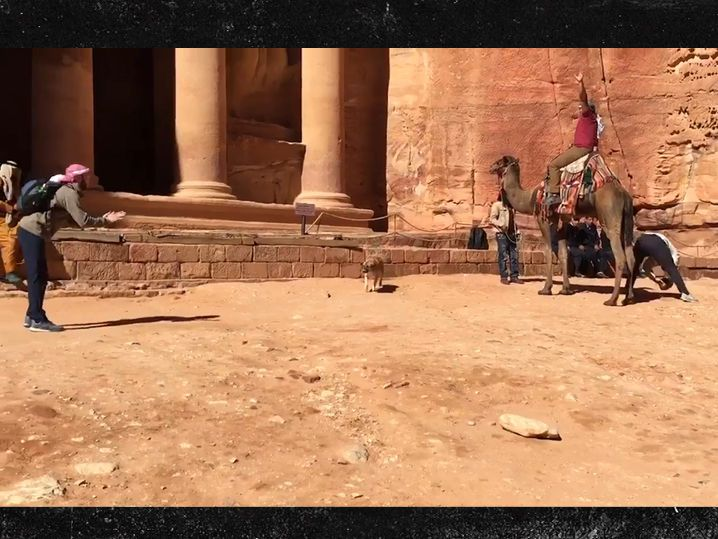 Detroit Lions Player LONGSNAPPIN' In Ancient City ... With a Camel (VIDEO)