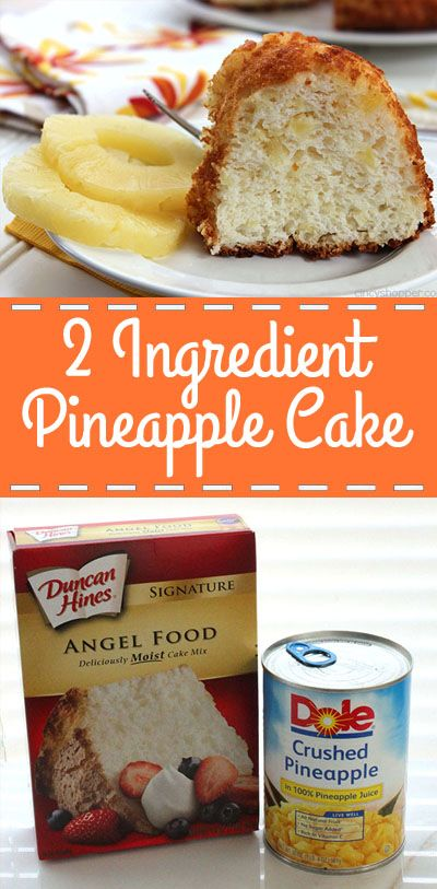 2 Ingredient Pineapple Cake - Yup… Just two ingredients and you can have an awesome summer time picnic dessert.