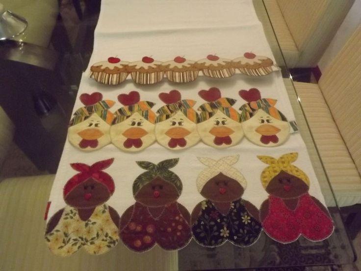 Panos de prato em patchwork