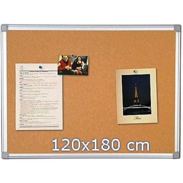 Panou pluta 120 x 180 cm, rama aluminiu - Panouri din pluta - Comunicare si prezentare - Birotica