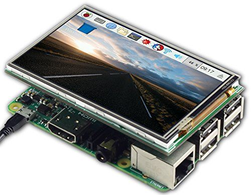 """UCTRONICS 3.5 Inches TFT Touch Screen for Raspberry Pi 3 480 x 320 Resolution LCD Resistive Display Monitor HDMI SPI Interface with Touch Pen  UCTRONICS 3.5"""" TFT LCD display module is designed for Raspberry Pi zero/Pi 2 /Pi 3 Model B / B+ and can also be used on other hardware platforms with SPI interface, (raspberry pi showed in the picture is not include). The 3.5"""" screen is the same size as the standard Raspberry Pi model B/B+, and well mate with them.  480x320 pixels resolution TFT..."""